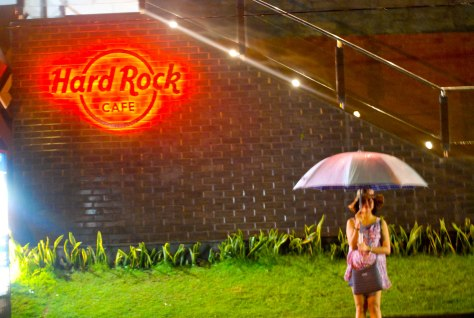 In front of Hard Rock Cafe Bali.